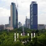 Vista del Paseo de la Reforma, desde el Castillo de Chapultepec