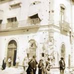 Edificio bombardeado durante la decena tragica Mexico D F