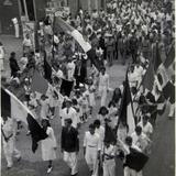 DESFILE CIVICO EN LA CELEBRACION DEL DIA DE LA BANDERA 24 DE FEBRERO DE 1940