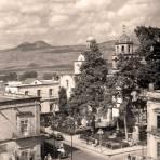Morelia, vista al Templo de la Compañía, 1945