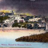 Nuevo Laredo incendiado por tropas federales en abril de 1914