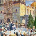 El cura Miguel Hidalgo en la declaración de independencia de 1810