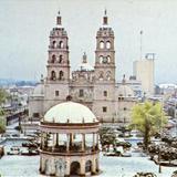 Plaza de Armas y Catedral en la nevada de enero de 1987