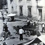 Mercado tipico en San Miguel de Allende Guanajuato en 1948