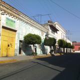 Calle del centro de Santa Ana Chiautempan. Marzo/2016