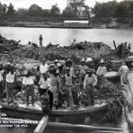 Transporte de platano ratan Circa 1930-1950