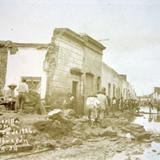 Inundacion en el barrio de el Coecillo acaecida el dia 24 de Junio de 1926
