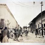 Escena callejera en la Calle Degollado ( Fechada en 1911 )