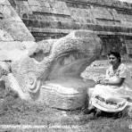 Cabeza de serpiente emplumada (Quetzalcóatl)