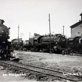 Grupo de Maquinas de el Ferrocarril Mexicano en Empalme Escobedo Gto.