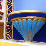 Muestra del colorido de la Fachada de la Parroquia de Chignahuapan