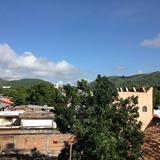 Vista hacia la zona centro de Huitzuco. Julio/2016