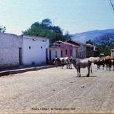 Escena Callejera de Tequila Jalisco 1969