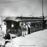 Estacion Ferroviaria de Munoz Puebla. ( 1930- 1950 )