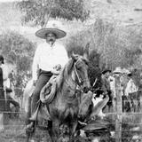 Don Antonio de la Mora Robles en Indé, Durango (circa 1922)