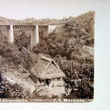 Puente del Chiquihuite via del Ferrocarril Mexicano por el fotografo Abel Briquet