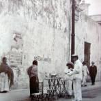 Escena Callejera durante la Intervencion de USA Fechada el dia 9 de Abril de 1916.