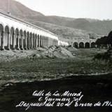 Calle de La Merced despues de la Erupcion de el Volcan de Colima el 20 de Enero de 1913
