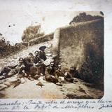 Fuente sobre el arroyo que lleva el agua a la fabrica de Miraflores fechada el 29de Julio de 1908 .