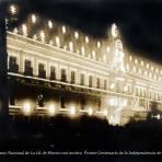 Iluminacion del Palacio Nacional de La Cd. de Mexico con motivo  Primer Centenario de la Independencia de Mexico Sep-1910