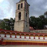 Plaza de Toros Jorge El Ranchero Aguilar y Torre Campanario del ex-convento del siglo XVI. Julio/2017