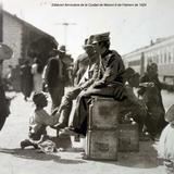 Estacion ferroviaria de la Ciudad de Mexico 9 de Febrero de 1924 .