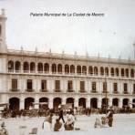 Palacio Municipal de La Ciudad de Mexico ( Circulada el 18 de Septiembre  de 1919 ).