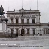 Estacion Ferroviaria del Ferrocarril Mexicano de La Ciudad de Mexico ( Circulada el 18 de Septiembre  de 1919 ).