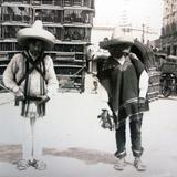Vendedores de pajaros Ciudad de México por Hugo Brehme.