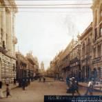 Avenida Cinco de Mayo Por el fotografo Fernando Kososky ( Circulada el 5 de Marzo de 1911 ).