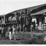 Estación del ferrocarril, Santiago Papasquiaro Durango 1922