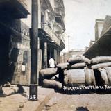 Muertos frente a La Aduana durante La ocupación estadounidense de Veracruz.