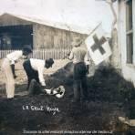 La Cruz Roja ayudando a un herido durante La ocupación estadounidense de Veracruz.