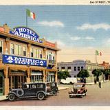 Calle Segunda y Hotel América