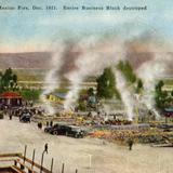 Incendio de 1921 que destruyó una cuadra comercial