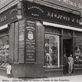 Sombrerería Sanjenis & Geraud, en San Juan de Letrán y Puente de San Francisco (ca. 1906)