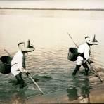 Tipos mexicanos Pescadores de Lago de Chapala Jalisco.
