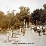 Entrada a Morelia Michoacan 1909 ( Circulada el 15 de Enero de 1909 ).