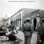 Escena callejera cerca de La Capilla de el Pocito Cd de Mexico 1939.