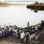 Cargando platanos en El Rio Papaloapan y la Comunidad de el Hule Oaxaca Mpio de Tuxtepec Fechada en 1911