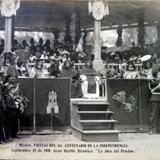 FIESTAS DE EL CENTENARIO ( Sep-15-1910 ) La Jura del Pendon por el fotografo Felix Miret.