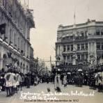 FIESTAS DE EL CENTENARIO ( Sep-16-1910 ) Desfile historico caballeros de el Sol Y de la Luna.
