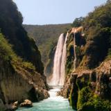 Cascada de Tamul y Río Santa María