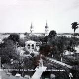 La Plaza y Catedral. - Matamoros, Tamaulipas