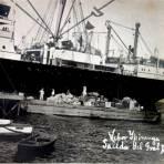 Salida del Pte. Porfirio Diaz en el Barco Ypiranga  ( El 31 de Mayo de 1911 ). - Veracruz, Veracruz