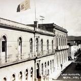 Casa municipal y calle Mexico.