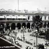 Un Aspecto de la Plaza de Armas Guadalajara, Jalisco ( Circulada el 29 de Julio de 1928 ).