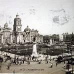 Plaza de La Constitucion ( Circulada el 12 de Octubre de 1927 ). - Ciudad de México, Distrito Federal