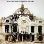 Teatro Nacional por el Fotógrafo Félix Miret ( Circulada el 5 de Agosto de 1912 )