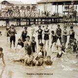 Escena playera  de Veracruz ( Circulada el 5 de Febrero  de 1928 ).